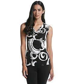 Nine West® Abstract Drape Neck Top