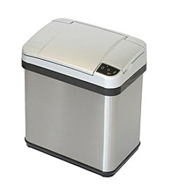 iTouchless 2.5-gal. Stainless Steel Silver Touchless Trash Can