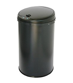 iTouchless Black Deodorizer 8-gal. Round Touchless Trash Can