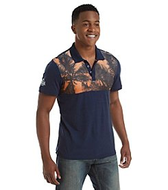 Buffalo by David Bitton Men's Short Sleeve Mesh Jersey Polo