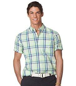 Chaps® Men's Big & Tall Short Sleeve Plaid Button Down