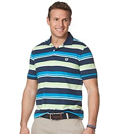 Chaps® Men's Big & Tall Short Sleeve Striped Pique Polo
