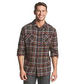 Ruff Hewn Men's Long Sleeve Plaid Flannel Shirt
