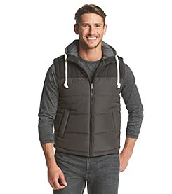 Ruff Hewn Men's Colorblock Hooded Puffer Vest