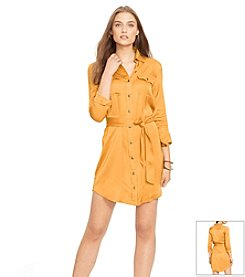 Lauren Ralph Lauren® Military Zip-Front Shirtdress