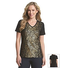 Laura Ashley® Foil Filagree Top