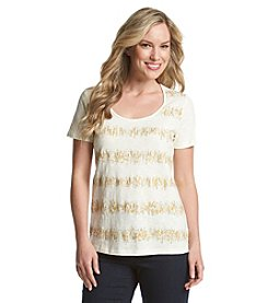 Laura Ashley® Foiled Zigzag Stripe Top