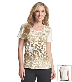 Laura Ashley® Animal Collage Top
