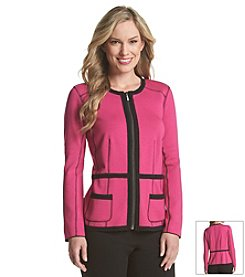 Laura Ashley® Ponte Framed Jacket