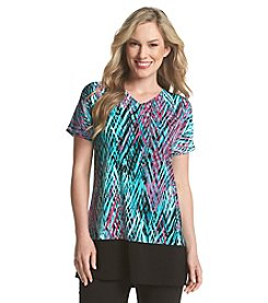 Laura Ashley® Zig Zag Color Block Tunic