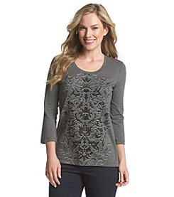 Laura Ashley® Shadow Scroll Top