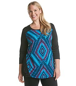 Laura Ashley® Plus Size Diamond Geo Tunic