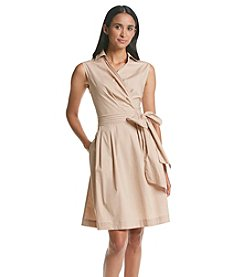 Lennie Wrap Collared Fit And Flare Dress