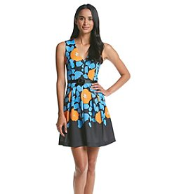 Plenty by Tracy Reese Floral Scuba Fit and Flare Dress