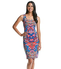 Sangria™ Printed Scuba Shift Dress