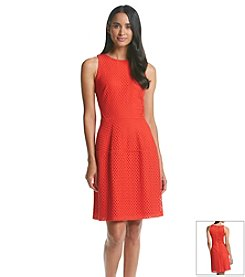 Gabby Skye® Eyelet Fit And Flare Dress