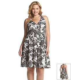 Gabby Skye® Plus Size Floral Halter Dress