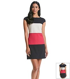 Andrew Marc® Colorblock Shift Dress