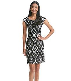 Connected® Herringbone Knit Shift Dress