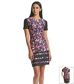 Vince Camuto® Floral Print T-Shirt Dress