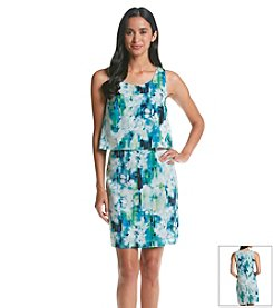 Andrew Marc® Printed Popover Dress