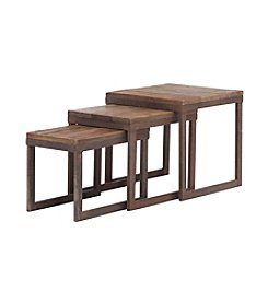 Zuo Modern Distressed Natural Civic Center Nesting Tables