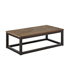 Zuo Modern Distressed Natural Civic Center Rectangular Coffee Table