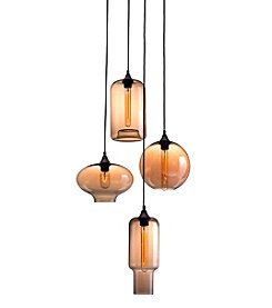 Zuo Modern Rust & Amber Lambie Ceiling Lamp