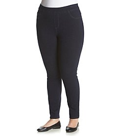 Relativity® Plus Size Pull On Jean Leggings