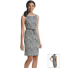 Jones New York Collection® Patchwork Sheath Dress