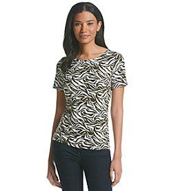 Jones New York Signature® Zebra Printed Tee