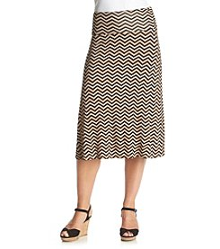 Bobeau Chevron Skirt