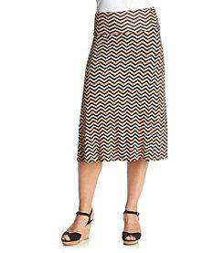 Bobeau Chevron Skirt