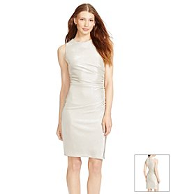 Lauren Ralph Lauren® Ruched Metallic Dress