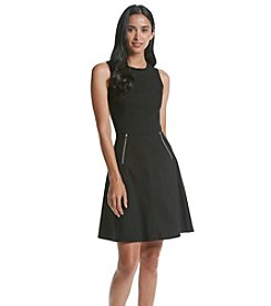 Marc New York Zipper Fit And Flare Dress
