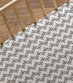 Lolli® Stamped Zig-Zag Crib Sheet