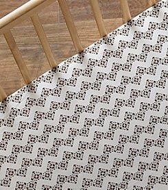 Lolli® Stamped Zig-Zag Crib Sheet