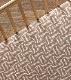 Lolli® Taupe Maze Crib Sheet
