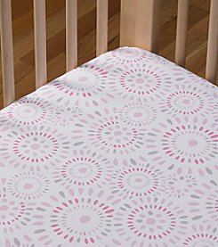 LTB Cotton Poplin Pink Confetti Crib Sheet