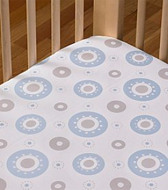 LTB Cotton Poplin Blue Orbit Crib Sheet