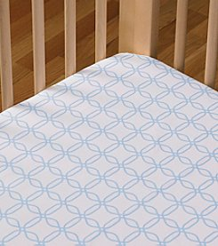 LTB Cotton Poplin Links Crib Sheet