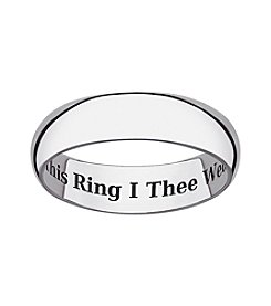 Sweet Sentiments Sterling Silver Wedding Ring