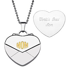 Sweet Sentiments Stainless Steel & Gold Ion