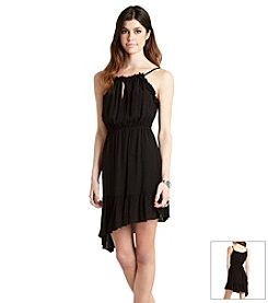 BCBGeneration™ Asymmetrical Ruffle Trim Dress