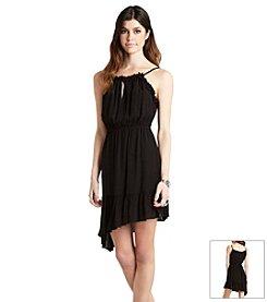 BCBGeneration™ Asymmetrical Ruffle Trim Dress