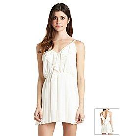 BCBGeneration™ Pleated Flounce Dress