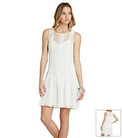 BCBGeneration™ Sheer Knit Drop Waist Dress