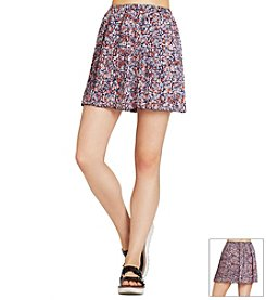 BCBGeneration™ Pleated Floral Skirt