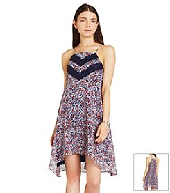 BCBGeneration™ Floral Lace Trim Dress
