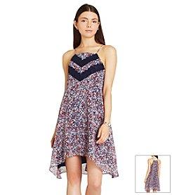 BCBGeneration™ Floral Lace Trim Dress